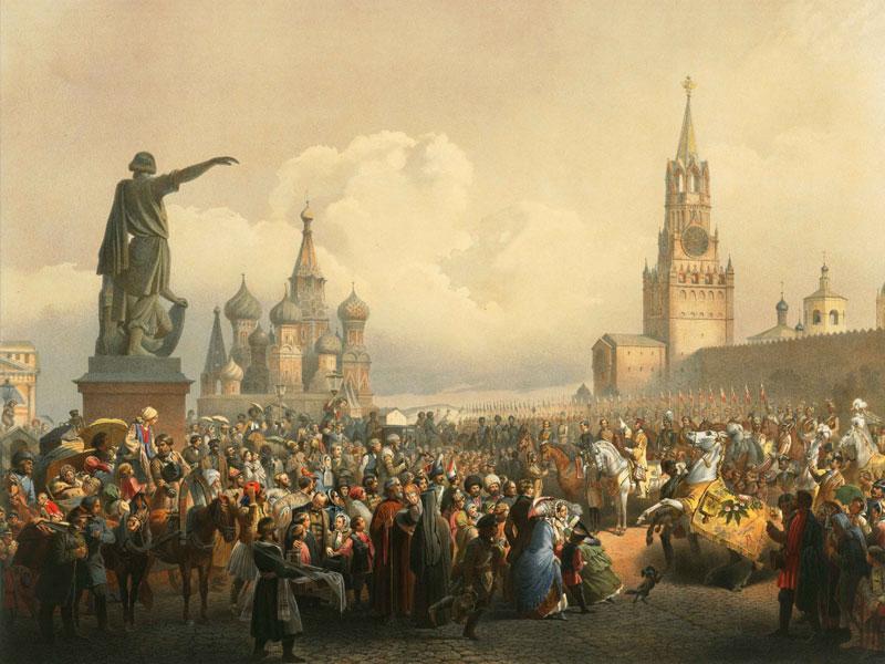 Коронационные торжества на Красной площади. 1856. Тимм В.Ф.