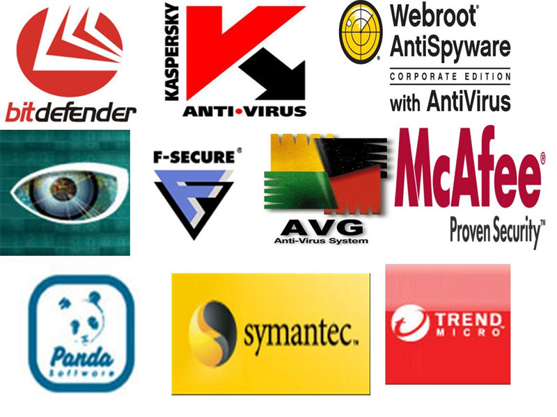 Логотипы компаний по разработке антивирусных программ