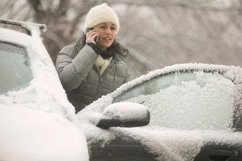 Трудные условия вождения зимой
