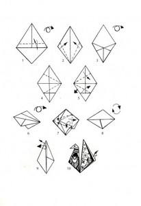 Рис. 5 – Фигура оригами двигающейся птицы