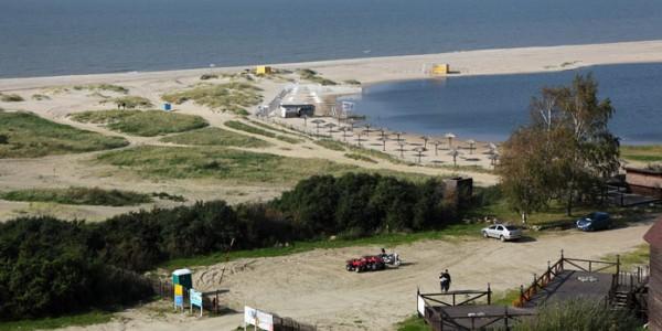 Пляж города Янтарный