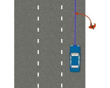 Наезд на человека на дороге