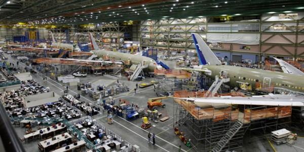 Сборка самолёта Боеинг 737НГ