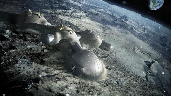 Постройка лунной базы с помощью технологии 3Д принтования
