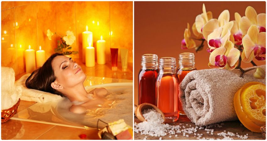 Принятия ванны с аромамаслами