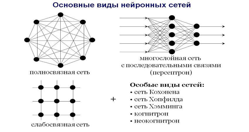 Виды нейронных сетей