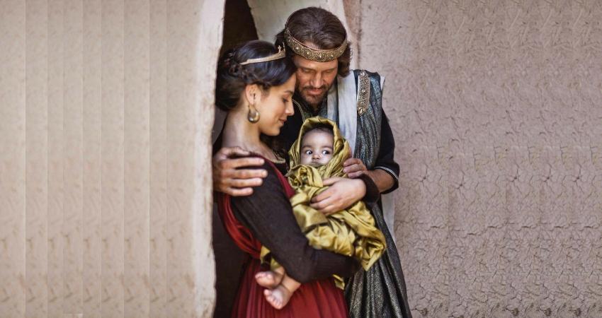 Царь Давид и Вирсавия с младенцем