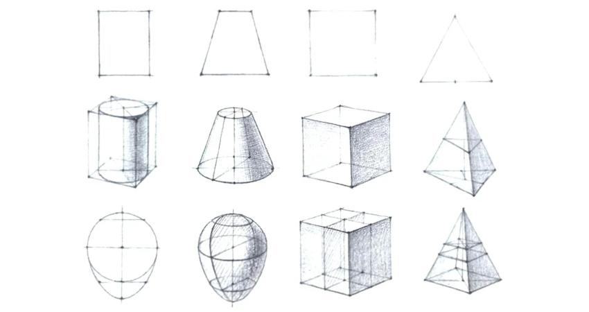 Необходимо правильно научиться рисовать именно эти формы